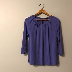 Banana Republic Lavender Rayon Work Blouse